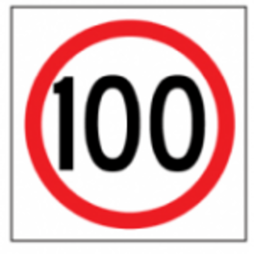 Temporary Traffic Signs 100 IN ROUNDEL