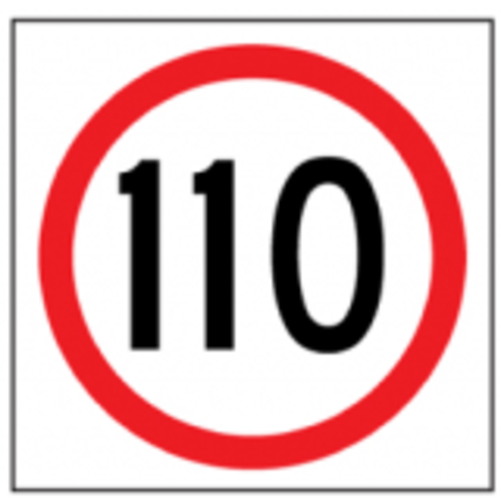 Temporary Traffic Signs 110 IN ROUNDEL