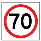Temporary Traffic Signs 70 IN ROUNDEL