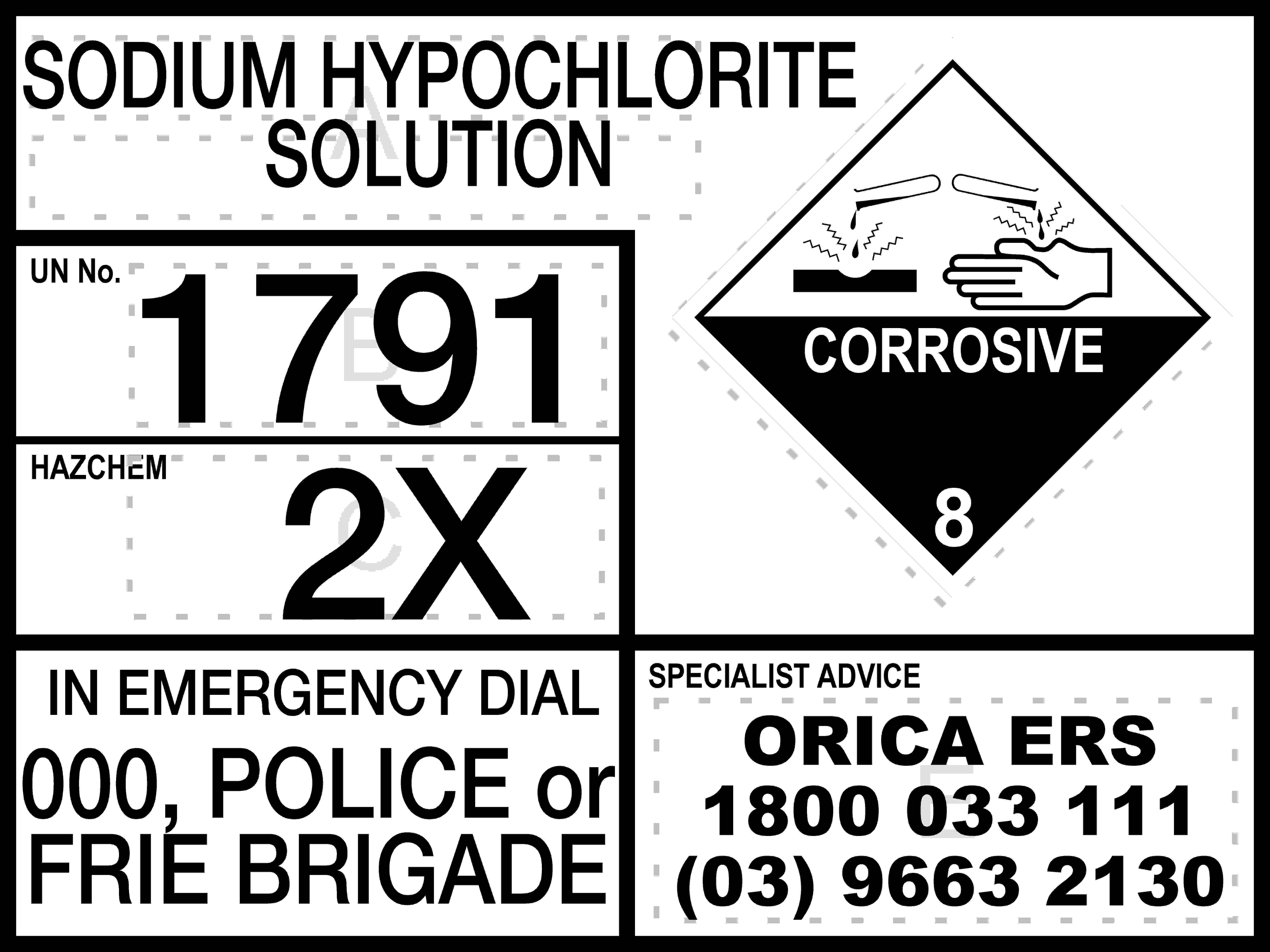 Hazchem Signs EMERGENCY INFORMATION PANEL - CUSTOM