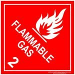 Hazchem Signs CLASS 2 - FLAMMABLE GAS - WHITE