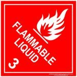 Hazchem Signs CLASS 3 - FLAMMABLE LIQUID - WHITE