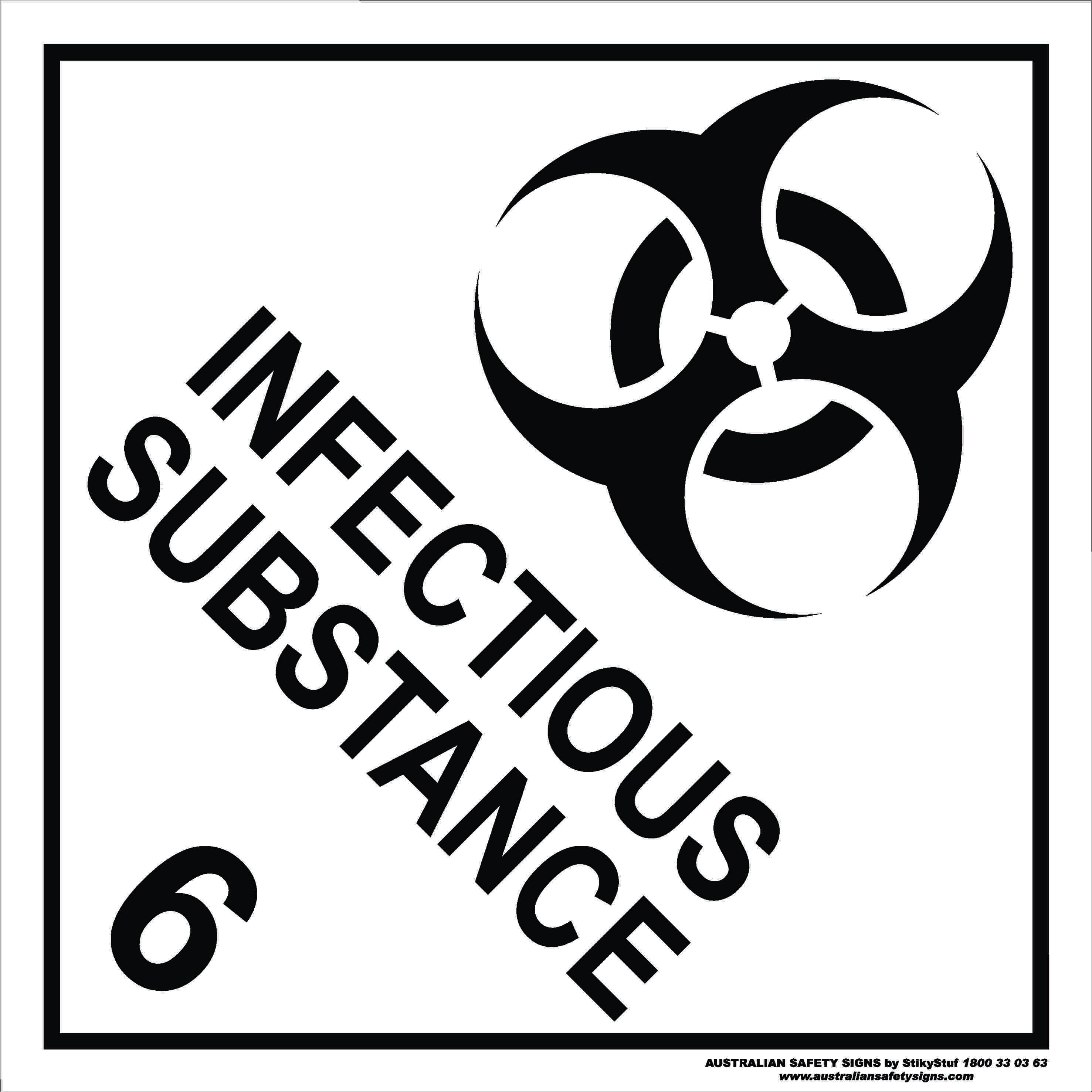 Hazchem Signs CLASS 6 - INFECTIOUS SUBSTANCE