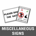 Miscellaneous Signs
