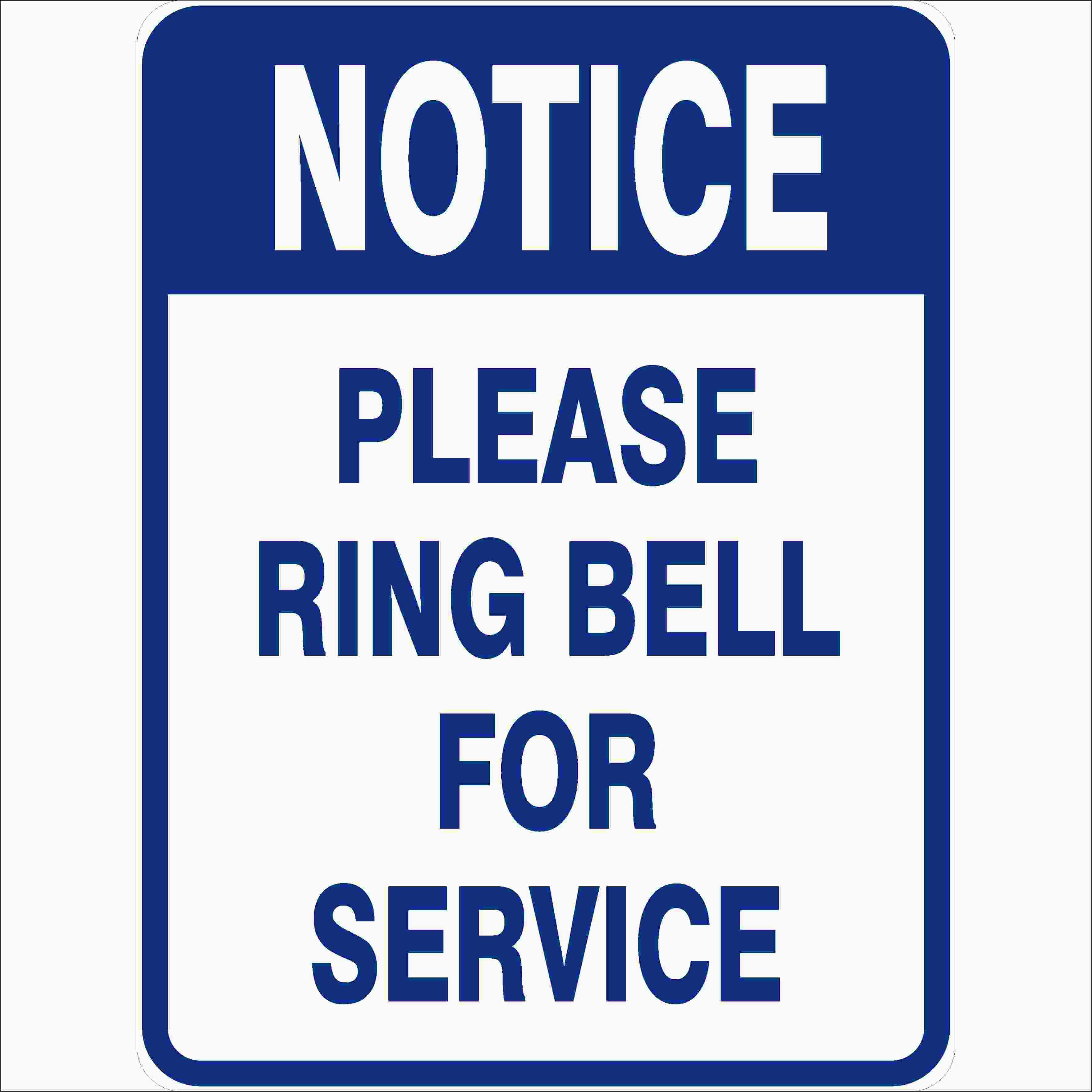 Miscellaneous Signs PLEASE RING BELL FOR SERVICE