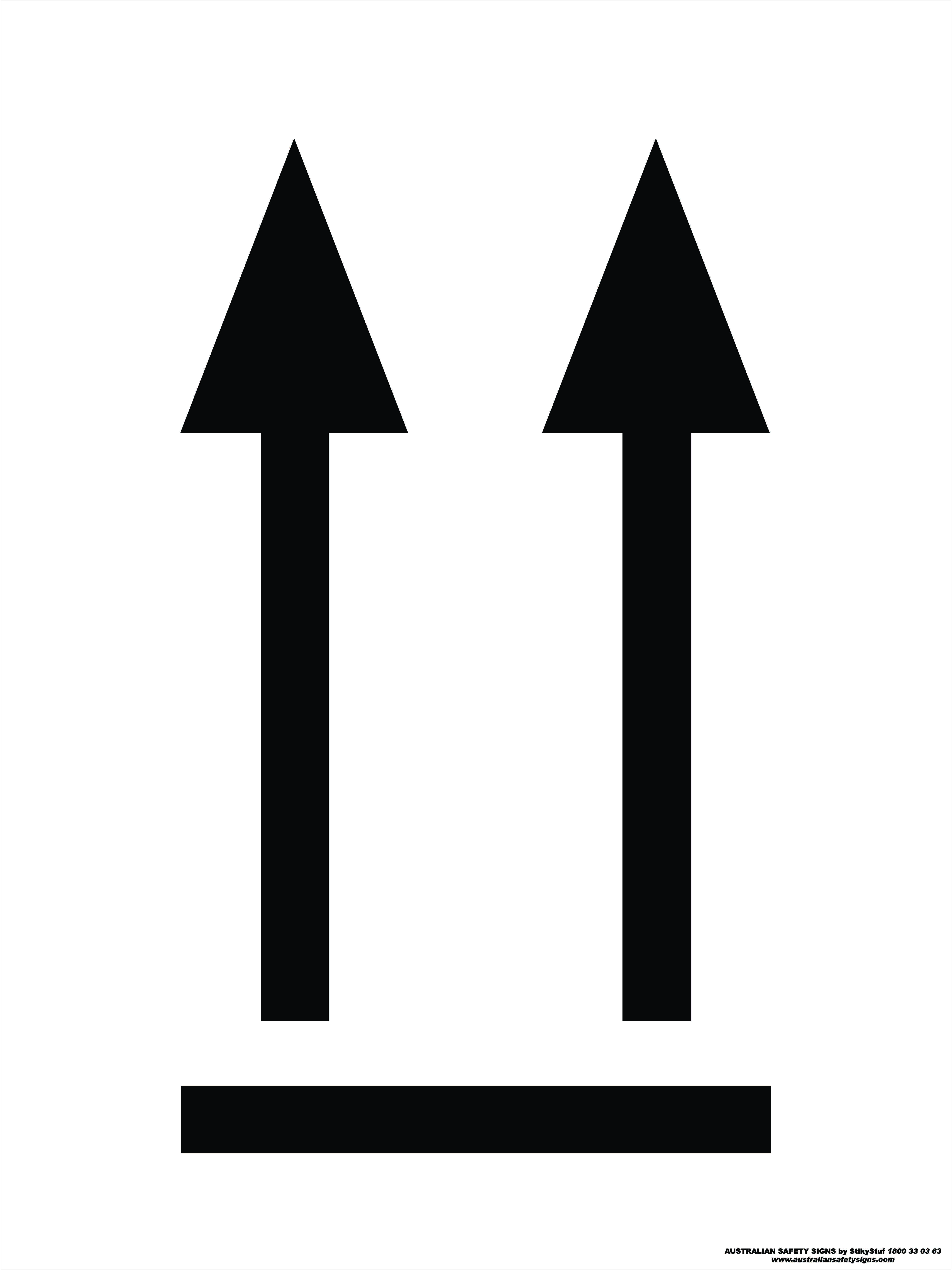 Hazchem Signs ORIENTATION ARROWS 1 - BLACK