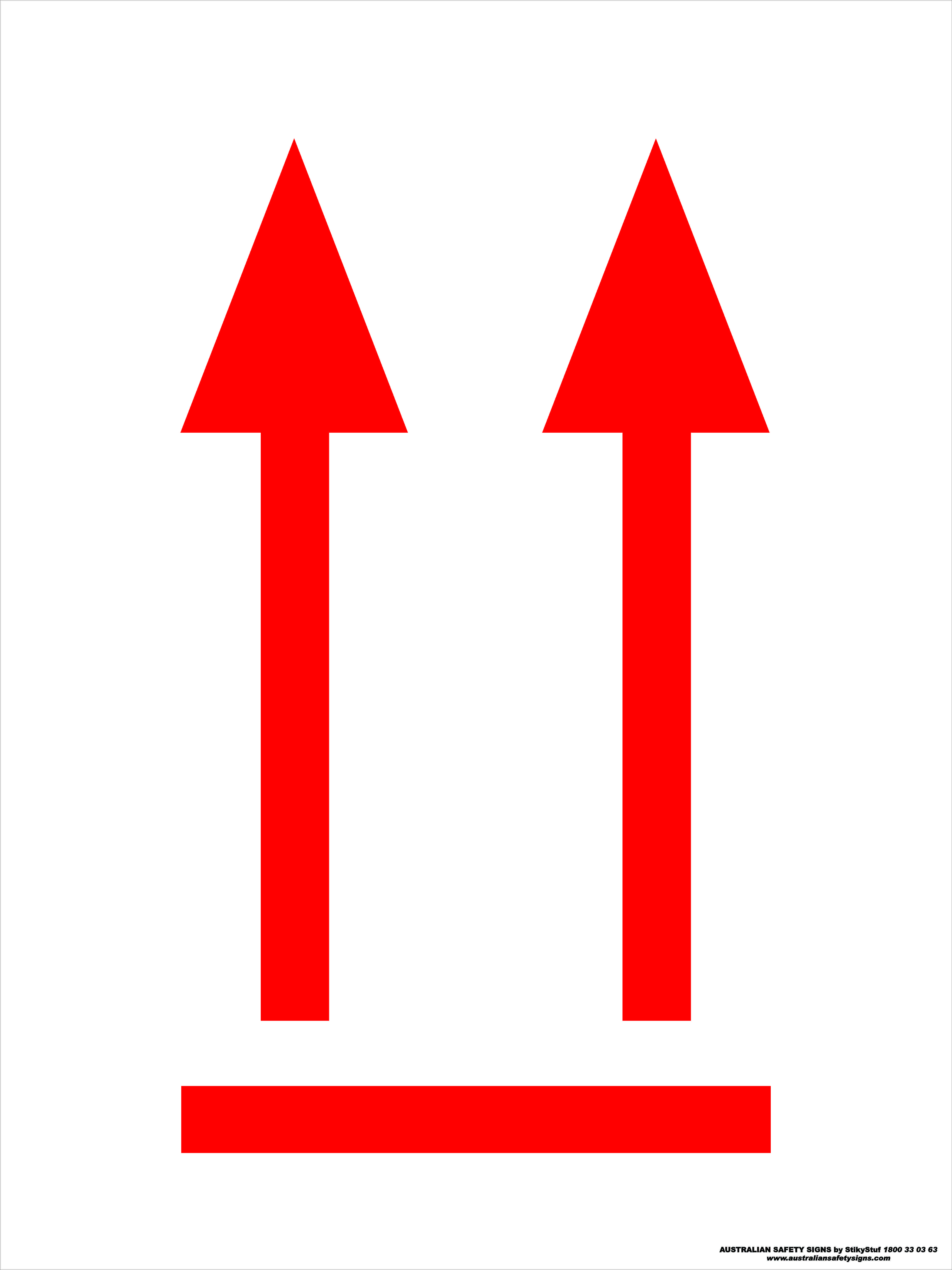 Hazchem Signs ORIENTATION ARROWS 1 - RED
