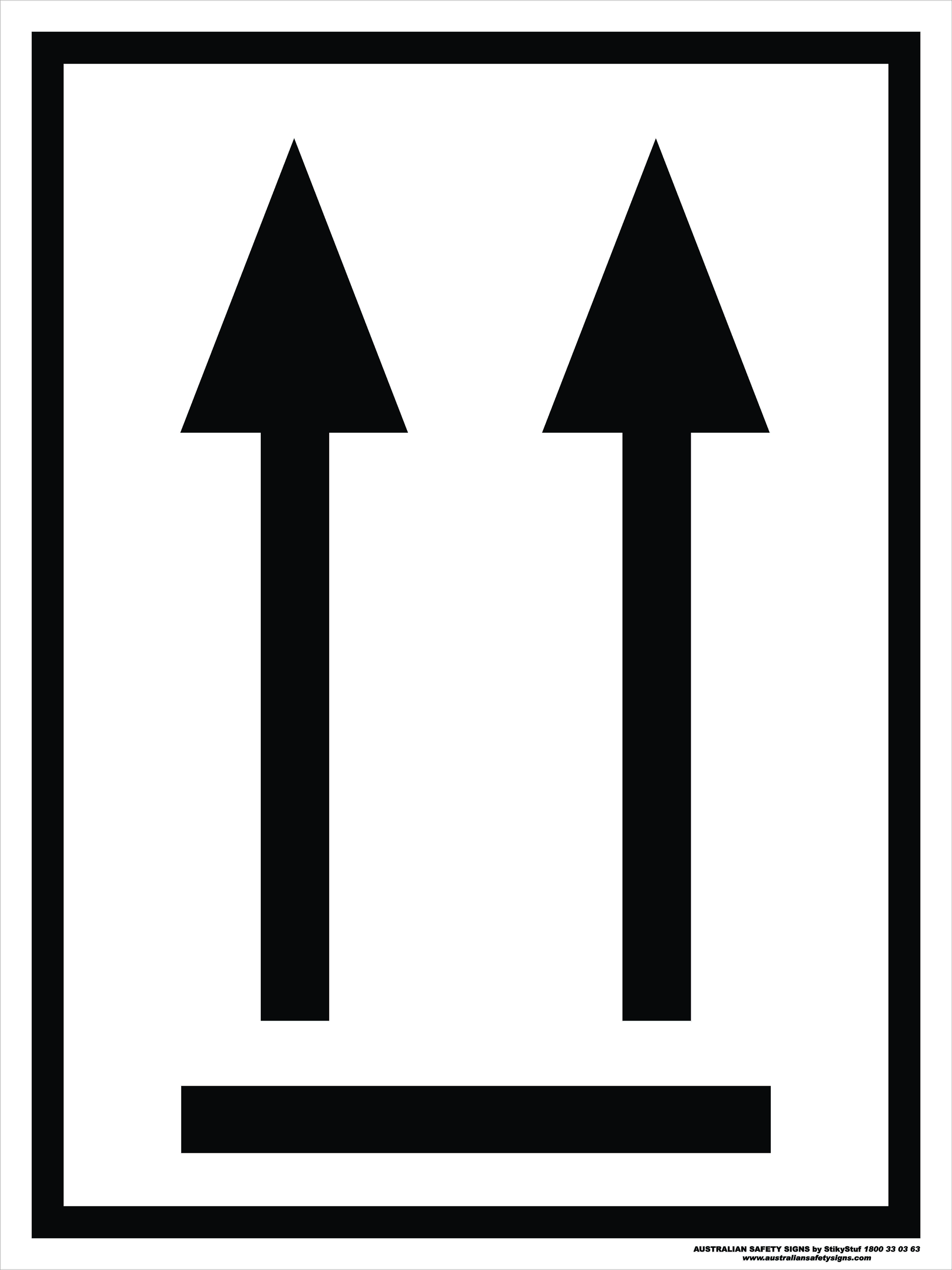 Orientation Arrows Black Discount Safety Signs Australia