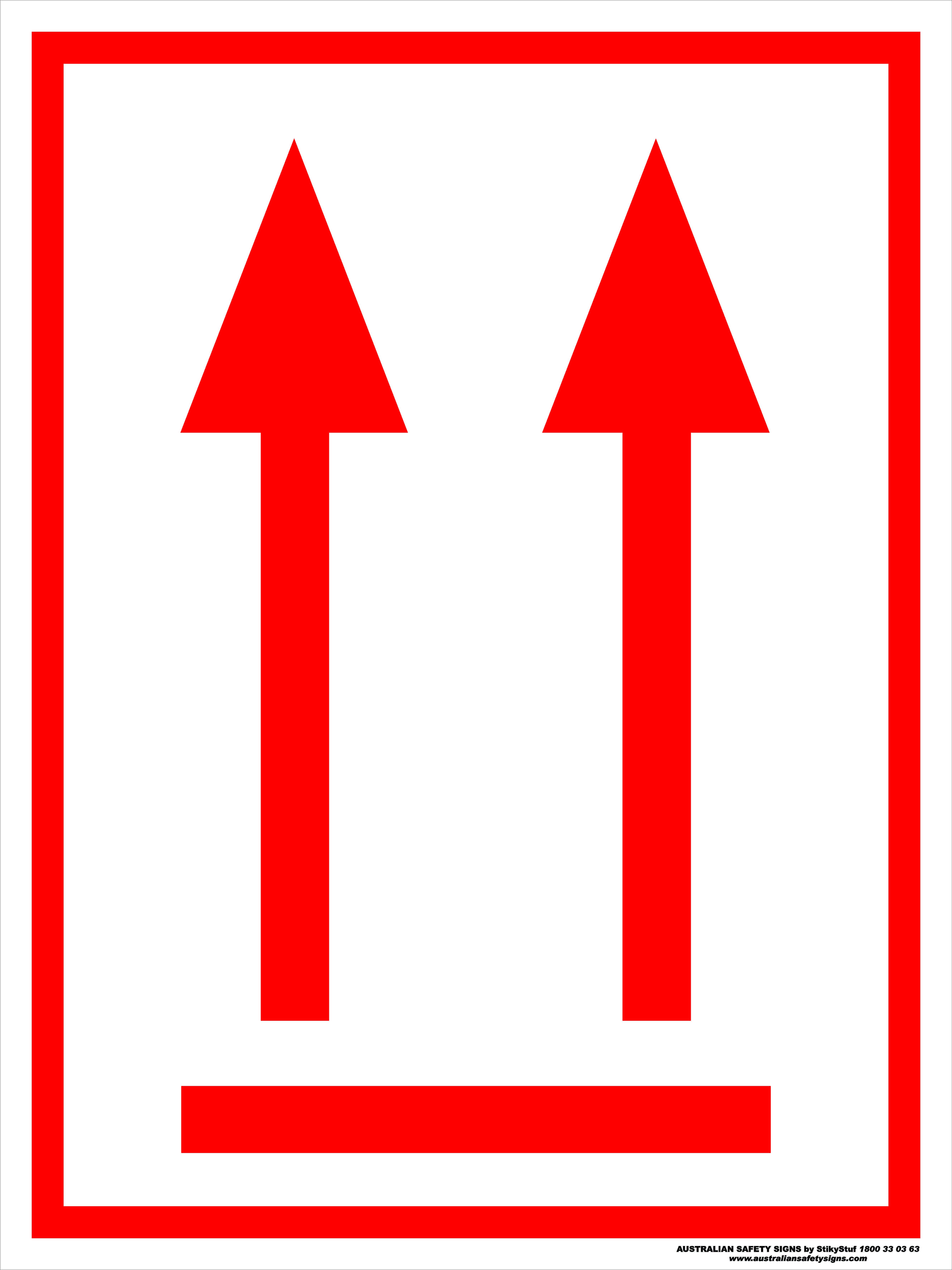 Hazchem Signs ORIENTATION ARROWS - RED