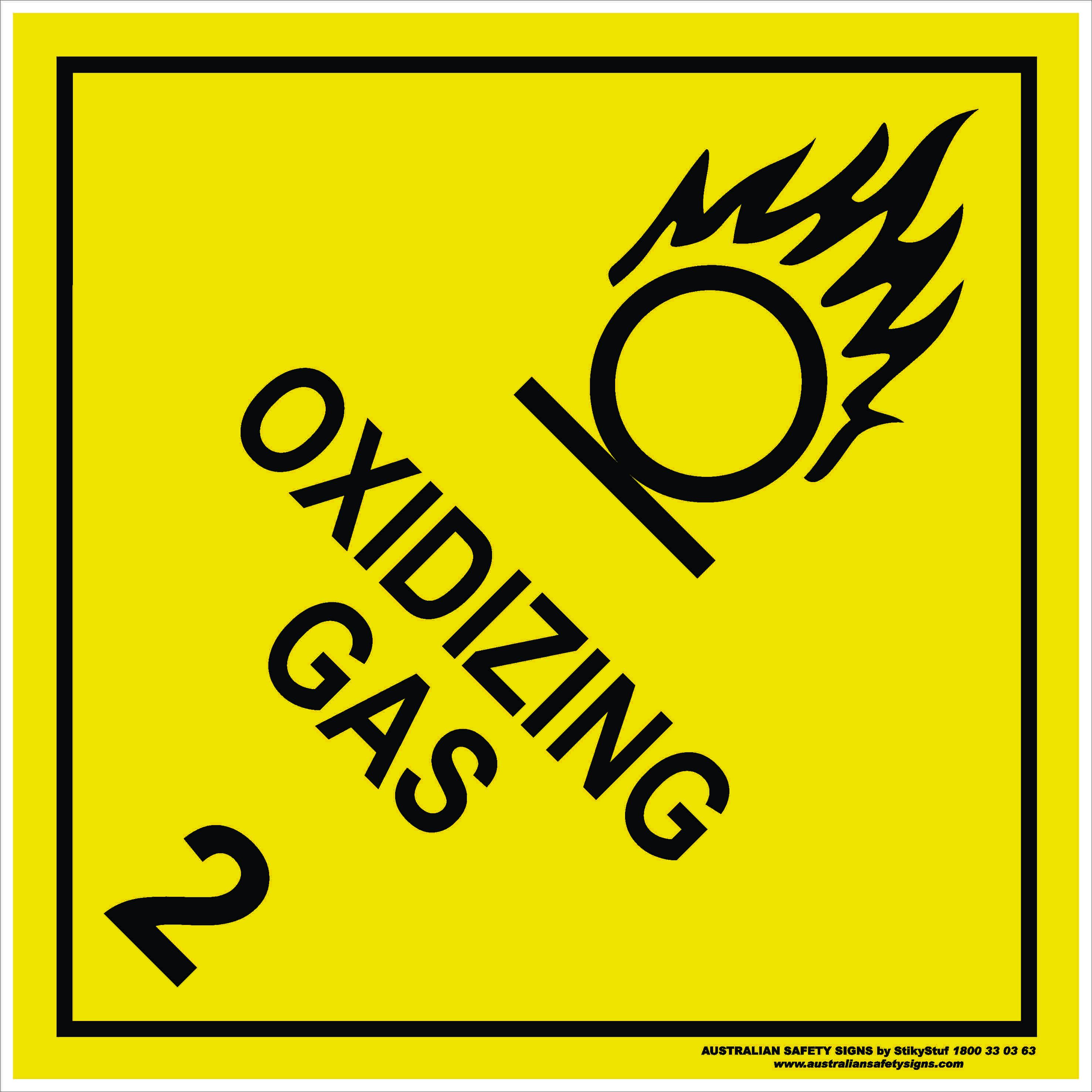 Hazchem Signs CLASS 2 - OXIDIZING GAS