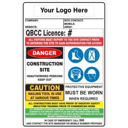 QBCC Construction Sign