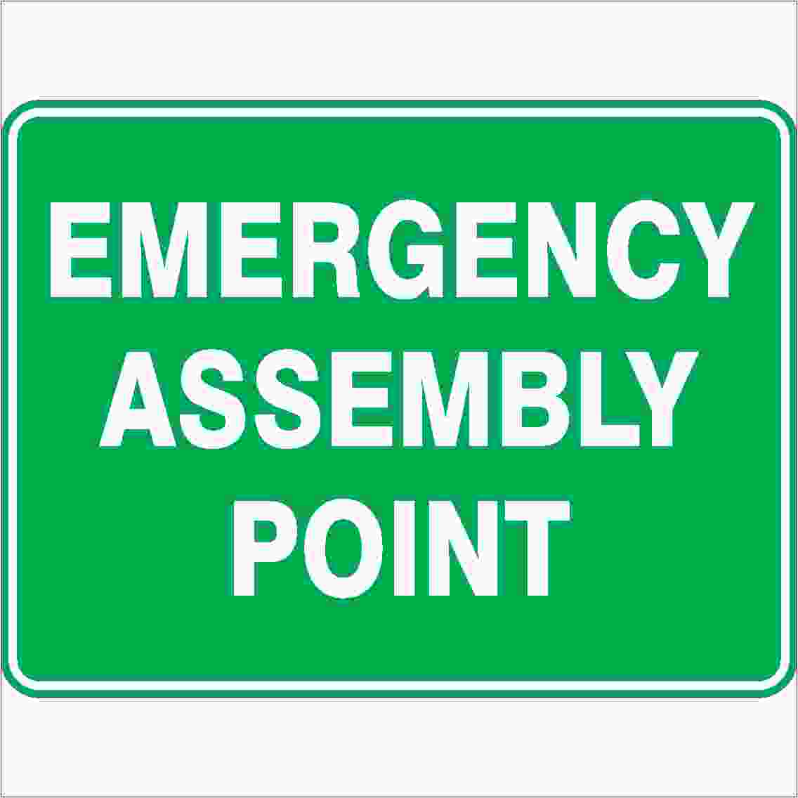 Emergency Signs EMERGENCY ASSEMBLY POINT