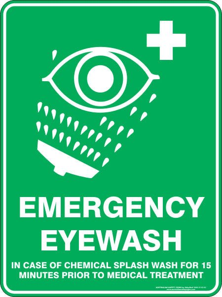 Emergency Signs EMERGENCY EYE WASH