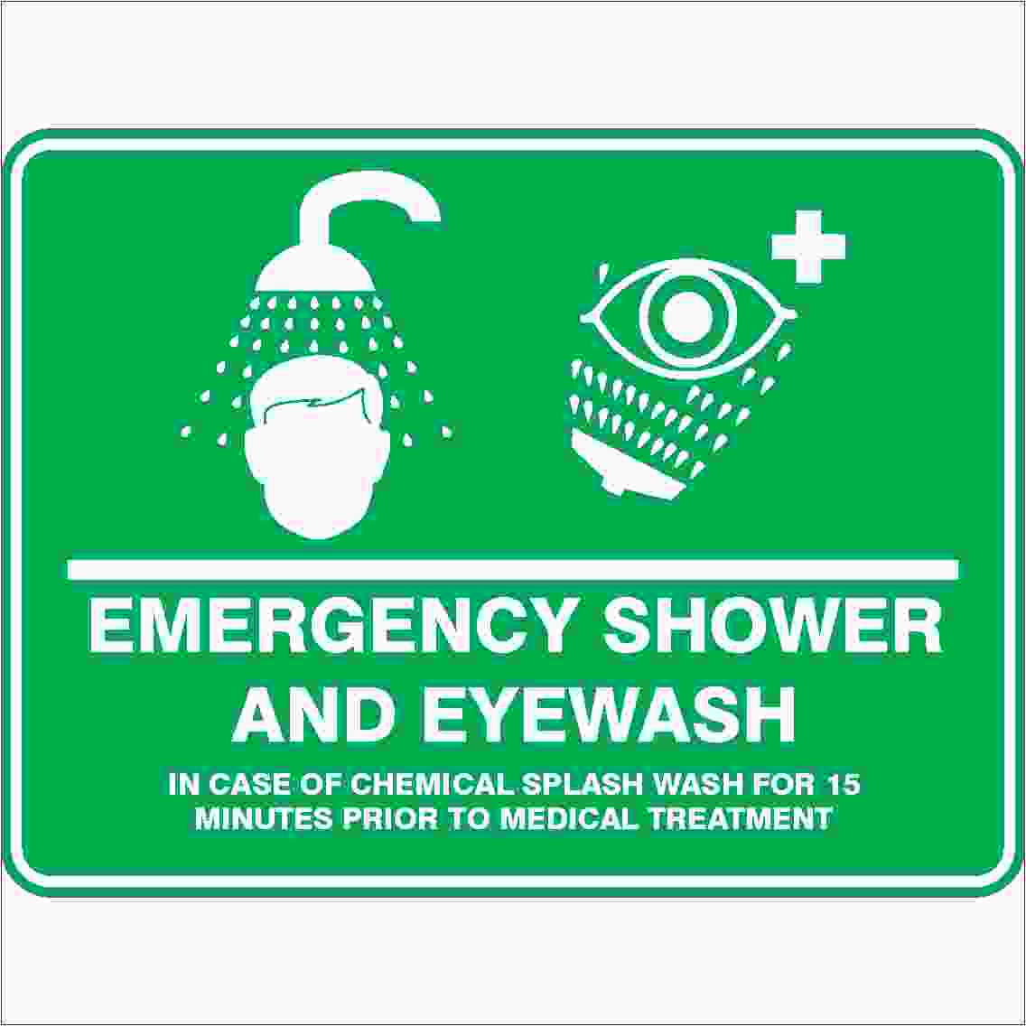 Emergency Signs EMERGENCY SHOWER AND EYE WASH