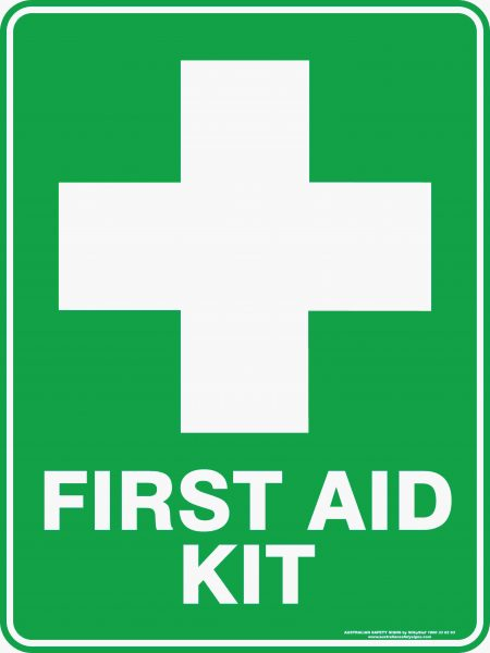 Emergency Signs FIRST AID KIT WITH CROSS