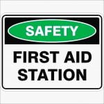 Emergency Signs FIRST AID STATION
