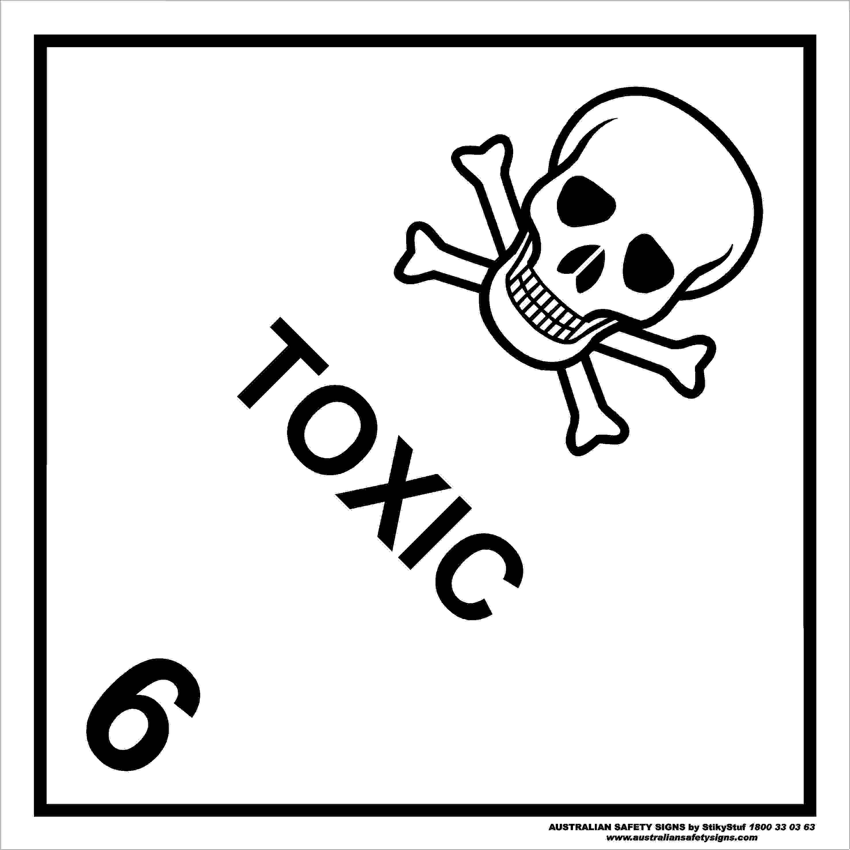 Hazchem Signs CLASS 6 TOXIC