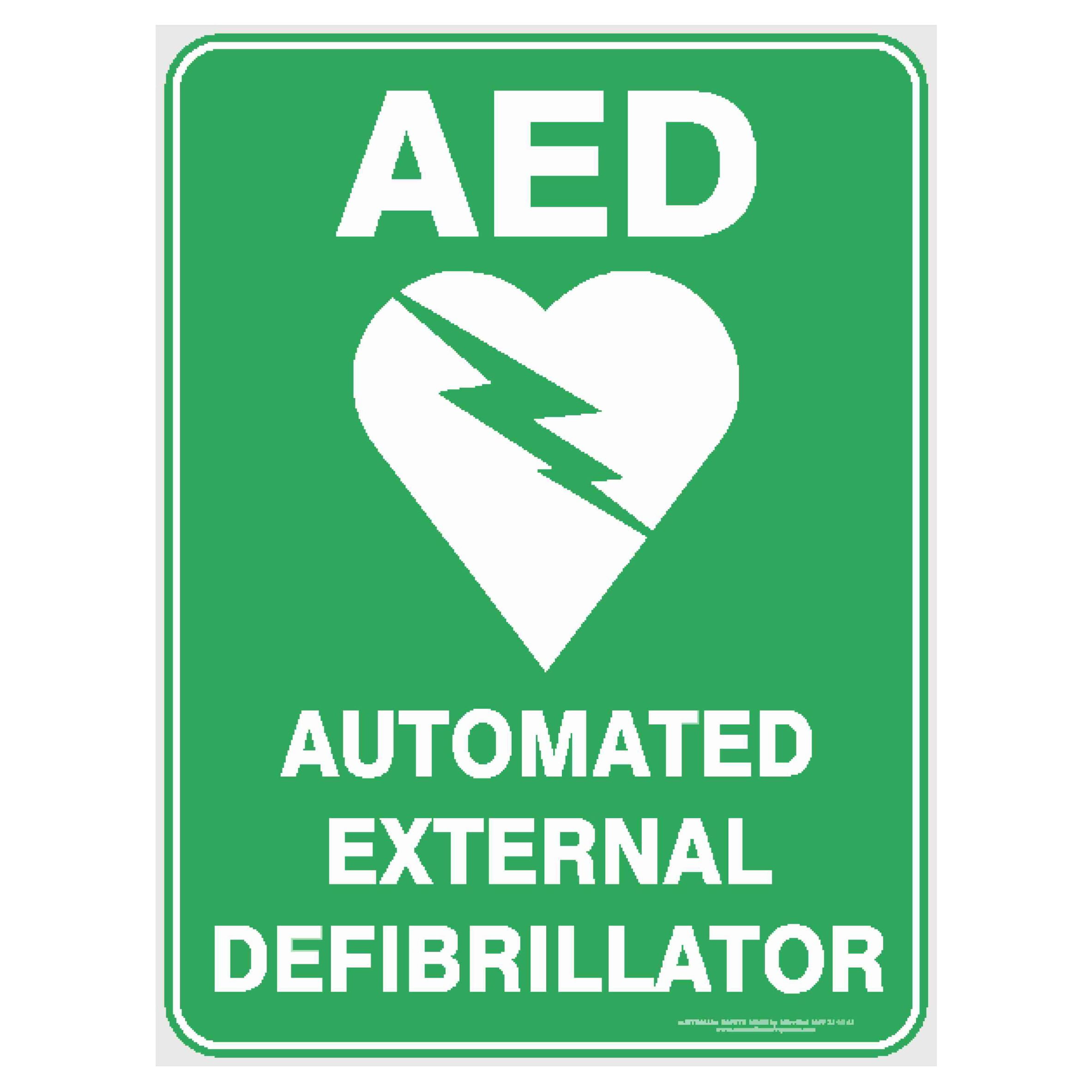 Facility Maintenance Safety Aed Automated External Defibrillator Safety Sign Stickers Business Industrial
