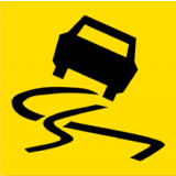 Temporary Traffic Signs SLIPPERY SURFACE