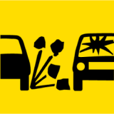 Temporary Traffic Signs LOOSE STONES PICTOGRAM