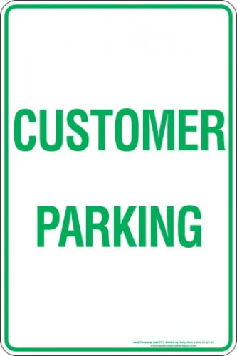 Parking Signs CUSTOMER PARKING
