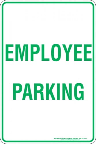 Parking Signs EMPLOYEE PARKING