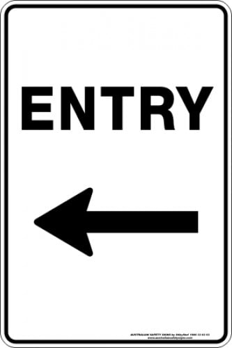 Parking Signs|Traffic Signs ENTRY ARROW LEFT