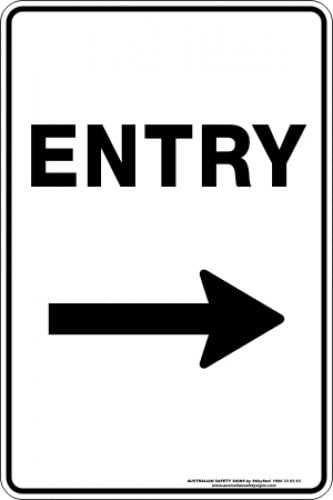 Parking Signs|Traffic Signs ENTRY ARROW RIGHT