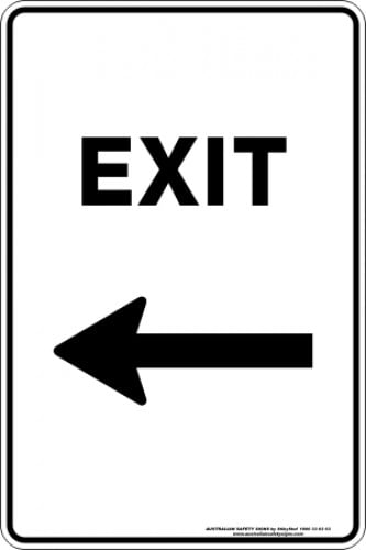 Parking Signs|Traffic Signs EXIT ARROW LEFT