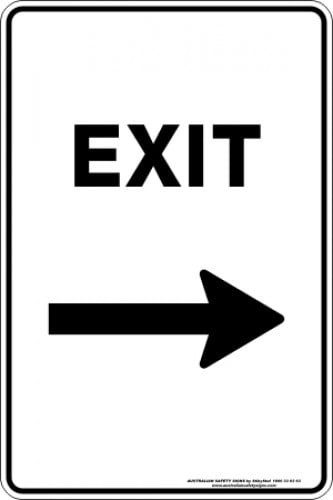 Parking Signs|Traffic Signs EXIT ARROW RIGHT