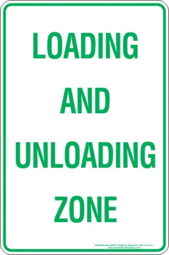 Parking Signs LOADING AND UNLOADING ZONE