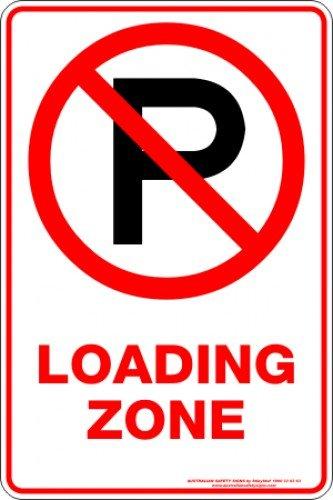 Parking Signs LOADING ZONE P