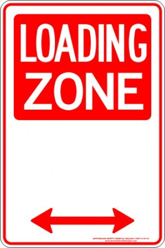 Parking Signs LOADING ZONE SPAN ARROW