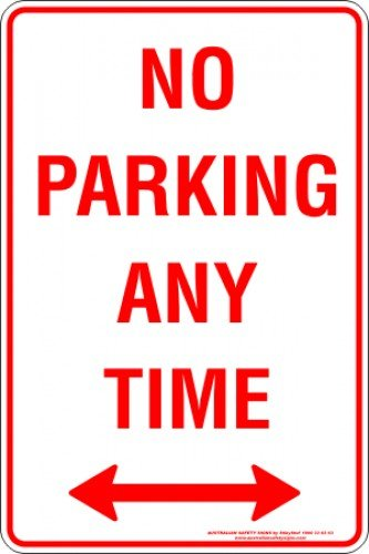 Parking Signs NO PARKING ANY TIME SPAN ARROW