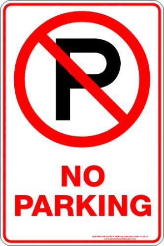 Parking Signs NO PARKING P