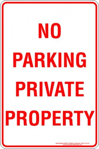 Parking Signs NO PARKING PRIVATE PROPERTY