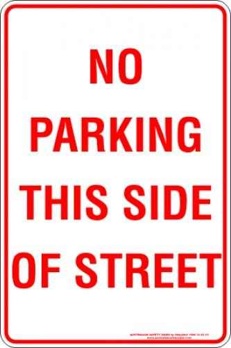 Parking Signs NO PARKING THIS SIDE OF STREET