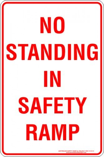 Parking Signs NO STANDING IN SAFETY RAMP
