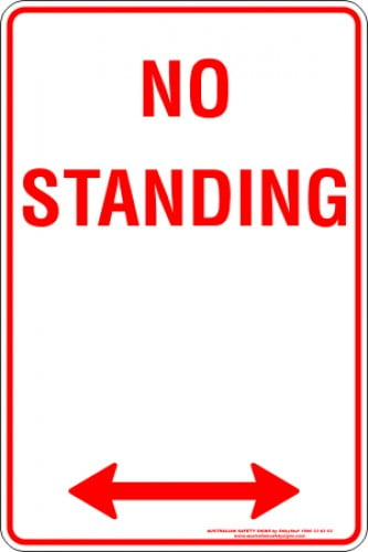 Parking Signs NO STANDING SPAN ARROW