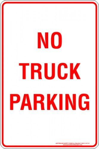 Parking Signs NO TRUCK PARKING