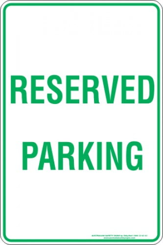 Parking Signs RESERVED PARKING