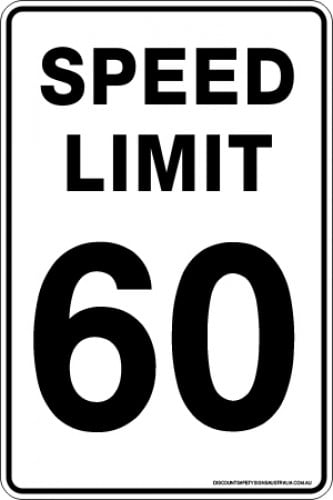 Traffic Signs SPEED LIMIT 60