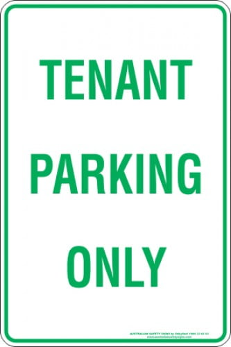 Parking Signs TENANT PARKING ONLY