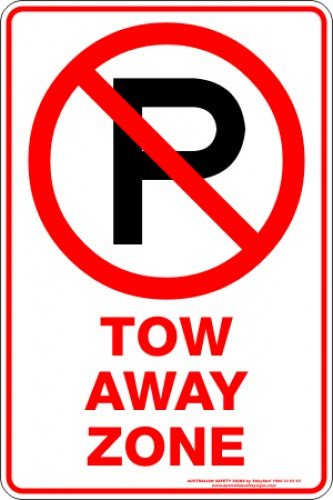 Parking Signs TOW AWAY ZONE P