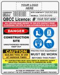 Construction Site Signs CONSTRUCTION SITE COMBINATION SIGN - QLD QBCC Compliant