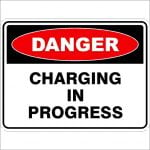 Danger Signs CHARGING IN PROGRESS
