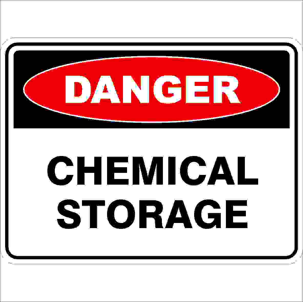 Danger Signs CHEMICAL STORAGE