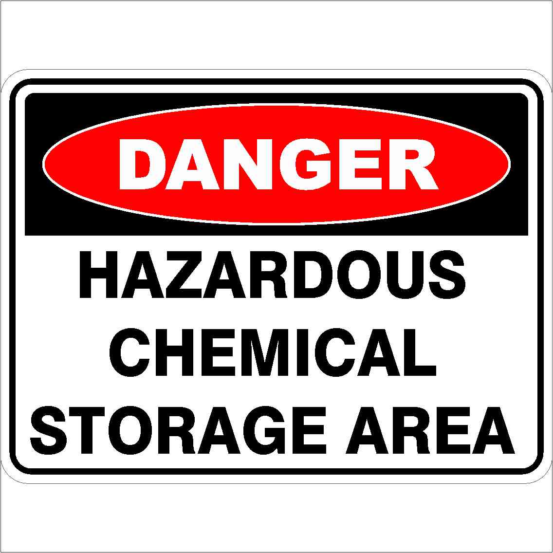 Danger Signs HAZARDOUS CHEMICAL STORAGE AREA