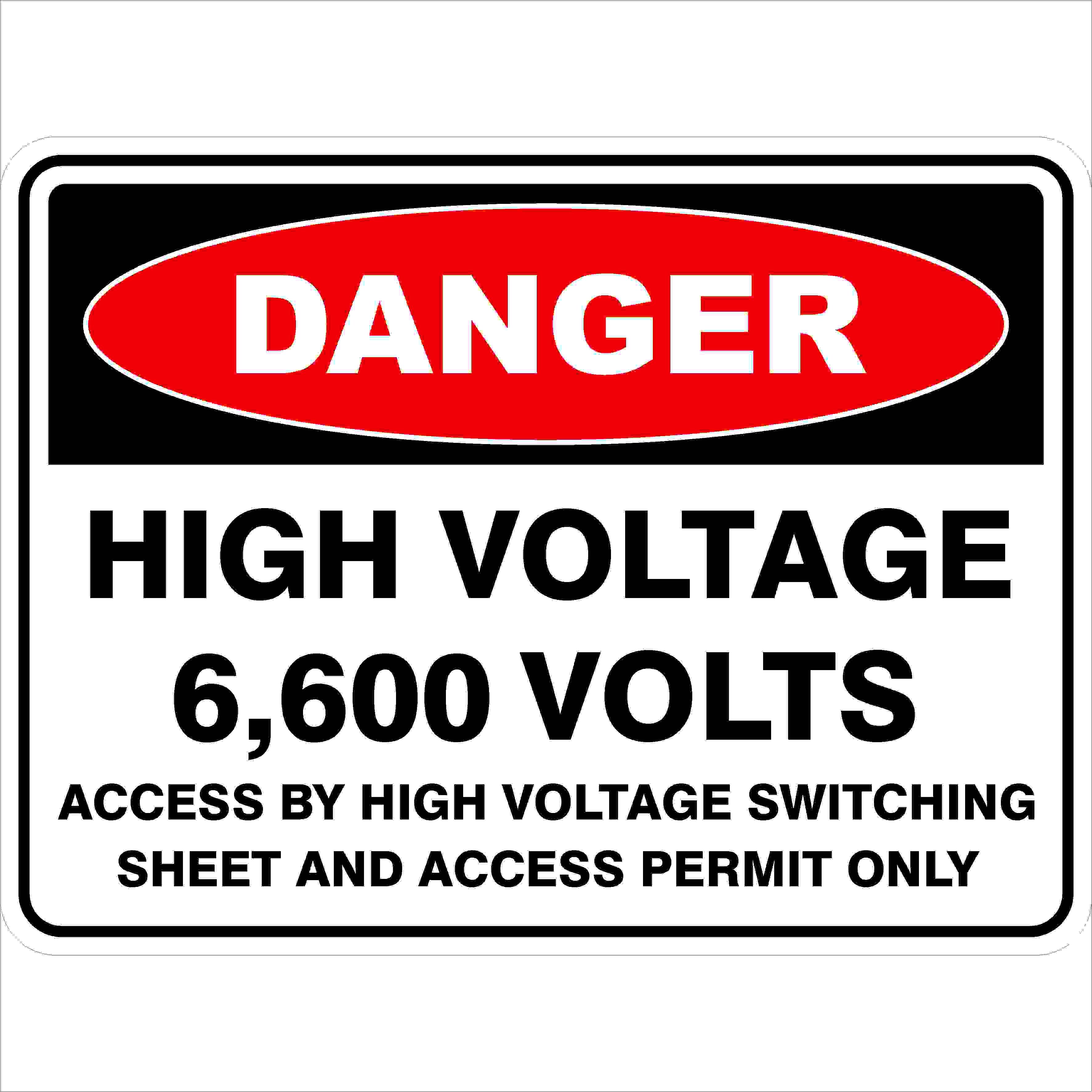 Danger Signs HIGH VOLTAGE 6