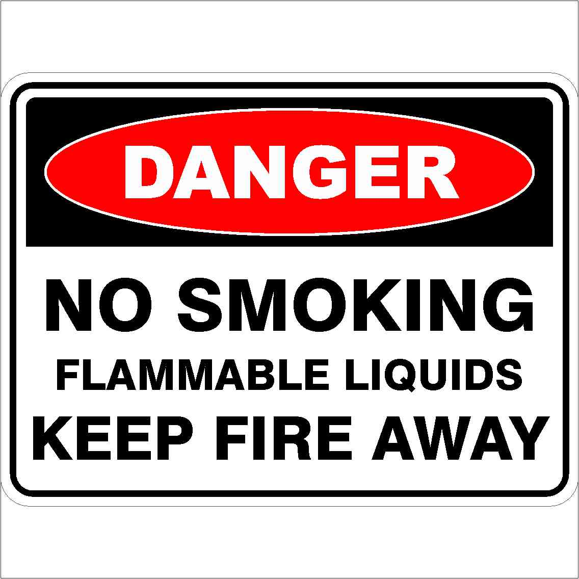 Danger Signs NO SMOKING FLAMMABLE LIQUIDS KEEP FIRE AWAY